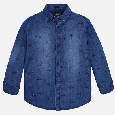 Koszula d/r denim wzory | Art.07142 K67 Roz. 166