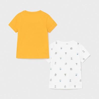 Set 2 koszulki k/r nadruk | Art.01008 K17 Roz. 80