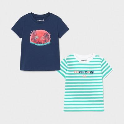 Zestaw 2 koszulki k/r paski | Art.01015 K86 Roz. 92