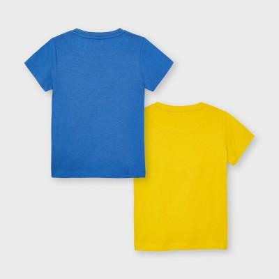 """Set 2 koszulki k/r""""feel good"""" | Art.03033 K70 Roz. 104"""