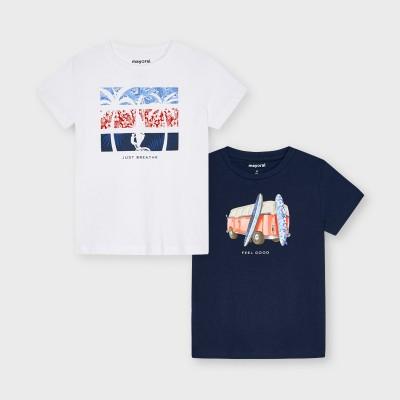 """Set 2 koszulki k/r""""feel good"""" | Art.03033 K71 Roz. 116"""