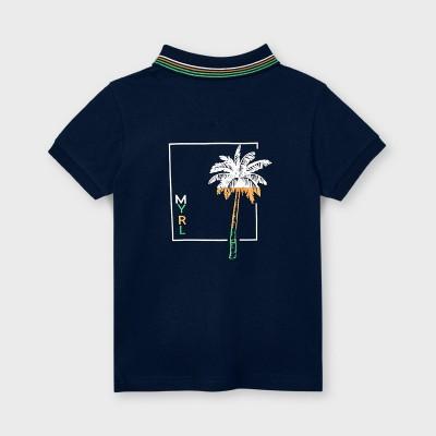 Koszulka polo k/r z nadrukiem | Art.03105 K21 Roz. 128