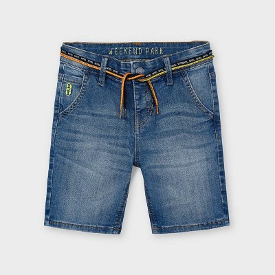 Bermudy jeans sznurek | Art.03233 K5 Roz. 122