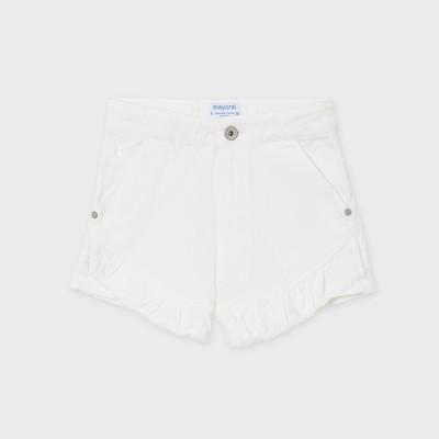 Krótkie spodnie serża falbana   Art.06270 K21 Roz. 128