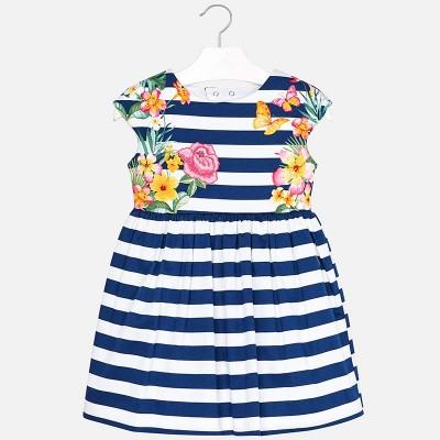 Sukienka paski nadruk | Art.03942 K37 Roz. 92