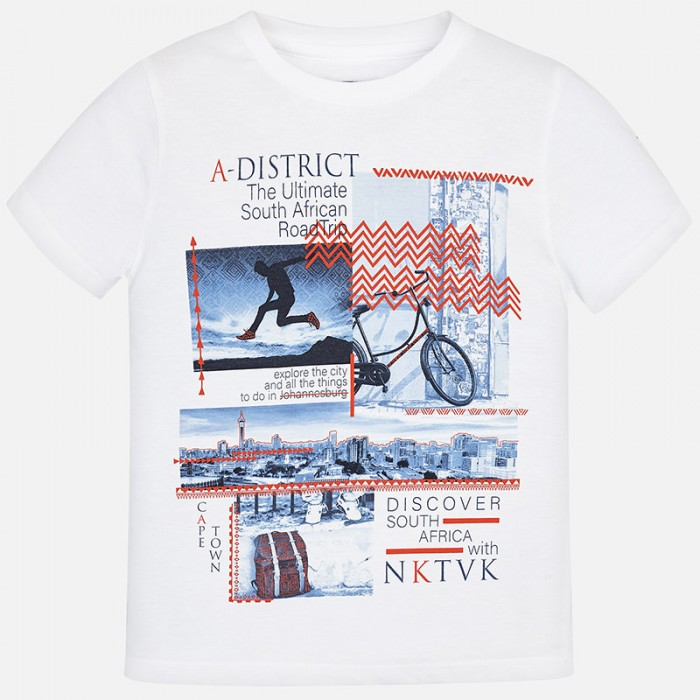 """Koszulka k/r """"a-district"""" | Art.06048 K54 Roz. 152"""
