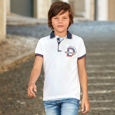 Koszulka polo k/r gładka | Art.06115 K45 Roz. 140