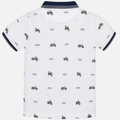 Koszulka polo k/r nadruk | Art.06118 K69 Roz. 140