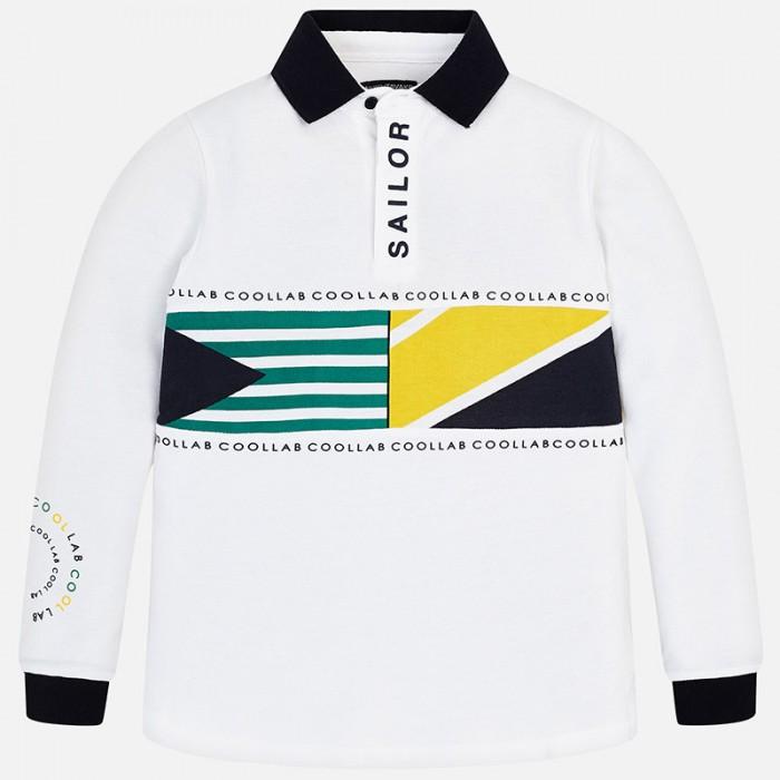 Koszulka polo d/r pasy | Art.06123 K48 Roz. 140