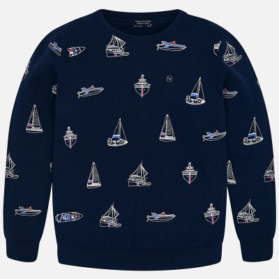 Sweter we wzory | Art.06305 K77 Roz. 140