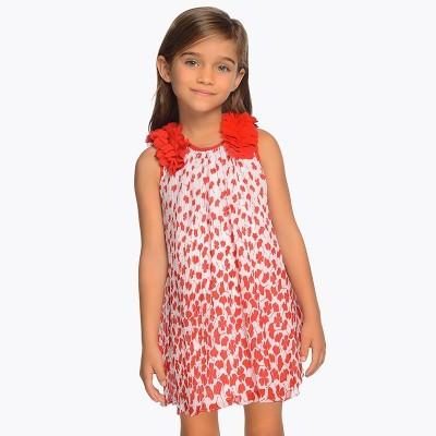 Sukienka plisowana kwiaty 3D | Art.03915 K47 Roz. 98